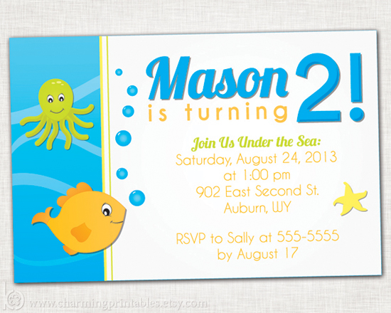 Printable Under the Sea Party Invitation