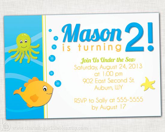Printable Under the Sea Party Invitation
