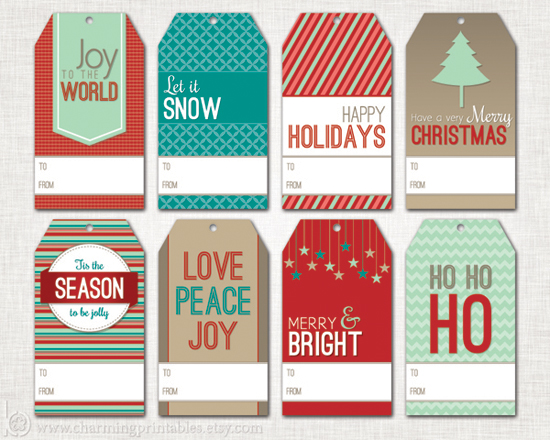 to from christmas labels