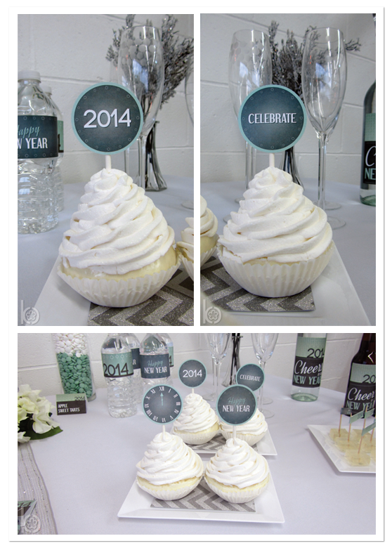 New Year's Party Cupcake Toppers