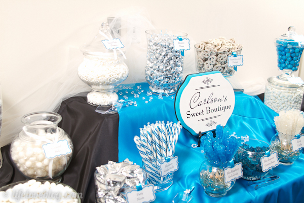 Blue Black Amp White Wedding Candy Buffet Charming Printables