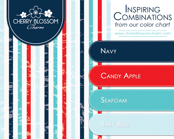 A More Modern And Summery Combination Of Patriotic Colors Navy Red Aqua
