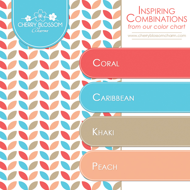 Color Combination of Coral, Aqua Blue, Beige and Peach for Spring and Summer Wedding