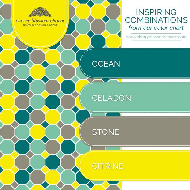 Citrine Celadon Color Combo