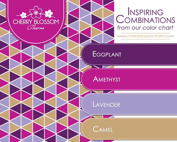 4 Color Combinations color combinations   cherry blossom charm
